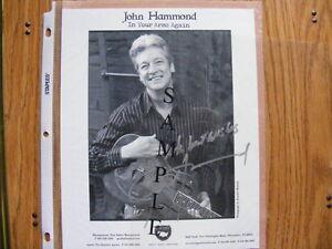 "FS: John Hammond (Blues Artist) ""Autographed"" Promotional Black"