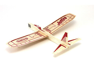 Jetfire Glider Kit- Unassembled Balsa Wood Airplane  We combine shipping   GUI30