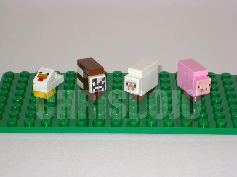 Купить LEGO Minecraft CUSTOM ANIMALS - Chicken Cow Sheep на eBay.com из Америки с доставкой в Россию, Украину, Казахстан