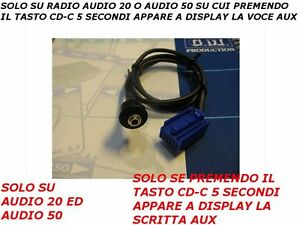 Aux-Line-Cavo-Audio-In-cable-Mercedes-Classe-A-B-C-Audio-20-50-04-08-da-75-cm