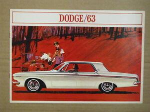 1963 DODGE Full Size Car Dealer Brochure.