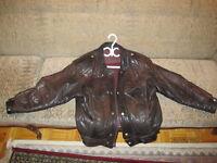 Manteau de cuir (Brun)
