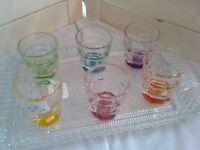 COLOURED SHOT GLASSES