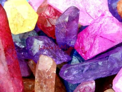 RAINBOW QUARTZ POINTS - 1000 CARAT Lots - Crystal Metalphysical Healing Gems