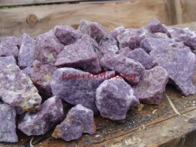 Natural Lepidolite Rough Gemstones   2000 Carat Lots   Lithium Bearing Mineral