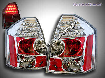 05 06 07 Chrysler 300-c 300c Srt-8 Sedan 4-door Led Tail Lights Lamps Clear