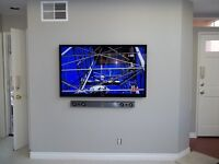 Tv wall Mounting service, professional wall tv wall mount, tv on wall services tv wall mount london