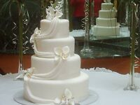 wedding cake ,fruit and dessert table