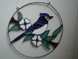 Stained glass Blue Jay ring Kingston Kingston Area image 2