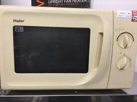 Haier Cream Microwave Oven