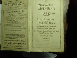 Automobile Green Book  Road Reference and tourist Guide. 1927 co