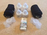 Tommee Tippee bottles, microwave steriliser steamer and accessories NEW