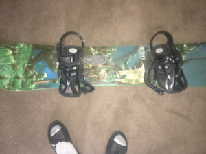 Sims sedition snow board with burton straps