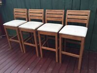 For sale 4 wooden bar stools