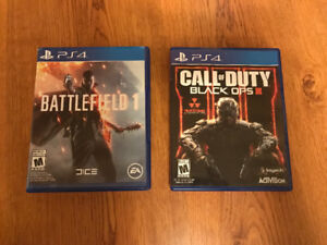PS4 Call of Duty Black Ops III and/or Battlefield 1