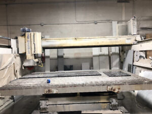 Bridge Saw cutter made in Italy for marble, quartz, and granite