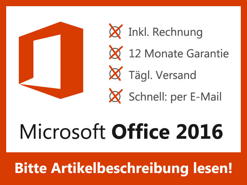 MS Microsoft Office 2016 Professional Plus NEU | für 1PC | Word Excel PowerPoint