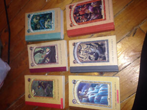 "7 books from the series's ""a series of unfortunate events"""
