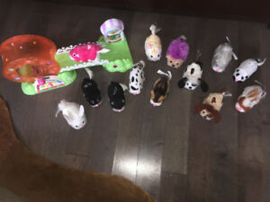 13 different Zhu Zhu Pets + 1 Little attraction for them