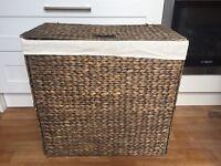 Large hyacinth laundry basket