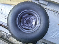 Turf tires with rims