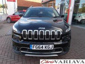 2014 Jeep Cherokee M-JET LIMITED SUNROOF + TEC PACK ( BIG SPEC ) Diesel black Au