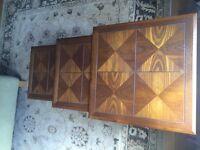 Rare GPlan Nest of 3 teak Tables