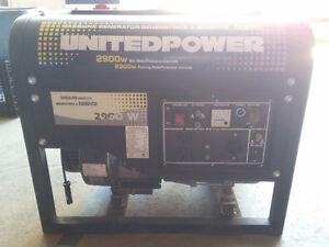 Generator 2900w Max Watts / 2300w Running Watts UNITEDPOWER
