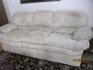 Beautiful Suede Leather Couch, Loveseat-PRICED to Sell QUICKLY!