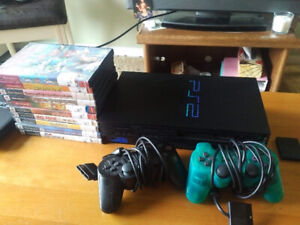Playstation 2 Console with 10 games