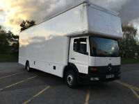 Mercedes Atego15T 2100cuft Dropwell Luton Container Furniture Removal Van NO VAT