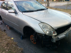2004 Infiniti G35x Sedan Parts only 647 494 2757 PARTS ONLY