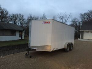 2016 Pace Enclosed 7 x 16 Trailer