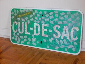 VIELLE PENCARTE CUL DE SAC / OLD FRENCH DEAD END SIGN
