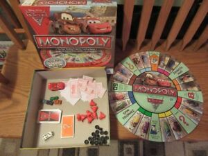 MONOPOLY - DISNEY PIXAR CARS - board game - REDUCED!!!!
