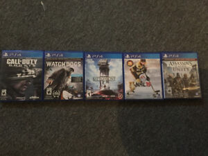 Watch dogs, Battlefield, Assassin's Creed, NHL 15