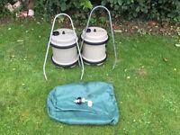 2 40 lire aquarols aquarol with storage bag, handles and auto fill caravan campervan motorhome