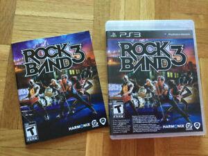 **Pour Ps3: Jeu Rock Band 3 complet avec livret - 30$