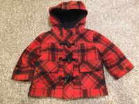 Red plaid jacket size 12-18 months