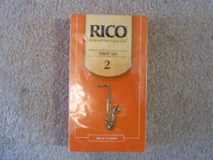 Brand New 25 Pack (Unopened) of Rico Tenor Sax Reeds No. 2