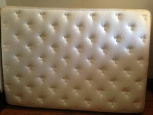 Free double mattress and bed frame