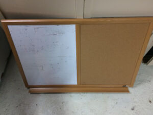 Bulletin and white board/dry erase board