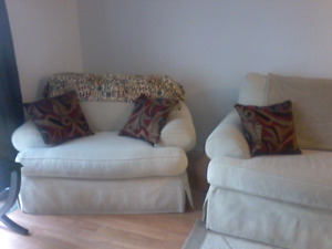 matching sofa and  oversized chair