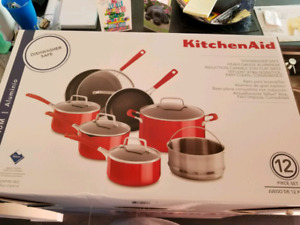 Kitchen Aid 12 Piece Aluminum Pot and Pan Set