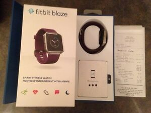 Fitbit Blaze Smart Fitness Watch, Plum/Silver - Large $175 OBO