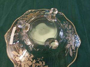 Sterling Silver Overlay Footed Crystal Bowl Kingston Kingston Area image 2
