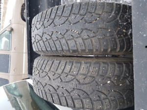 Pair of General Altimax Arctic winter tires size 215-70-16