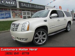 2011 Cadillac Escalade ESV   HEATED/COOLED LEATHER, QUADS, ROOF!