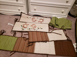 Monkey/safari/jungle bumpers and bed skirt