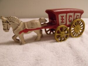 ANTIQUE JOUET CAST IRON  CHEVAL ICE